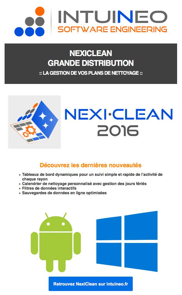 Nexiclean-1.15, Logiciel de gestion de vos plans de nettoyage